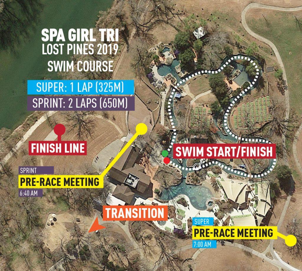 Lost Pines swim course
