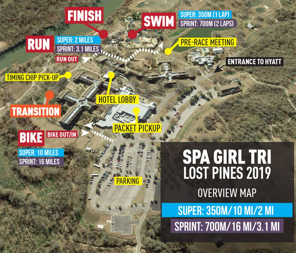Spa Girl Tri Lost Pines overview map